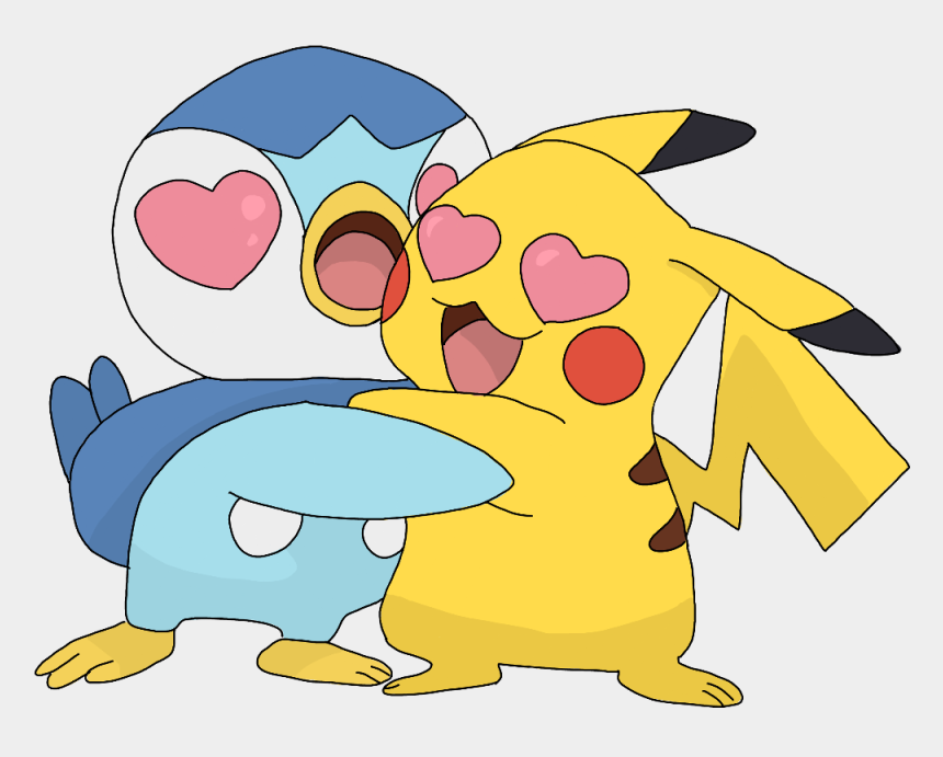 pikachu clip art, Cartoons - #pokemon #pikachu #pipulp #cute #kawaii #drawing #hug - Cute Kawaii Love Pokemon