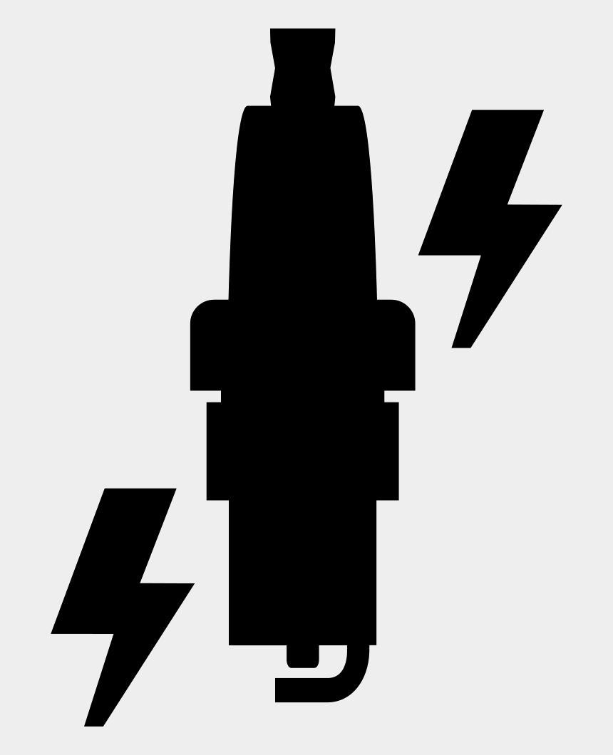 spark plug clip art, Cartoons - Spark Plug Replacement - Black And White Clipart Sparks