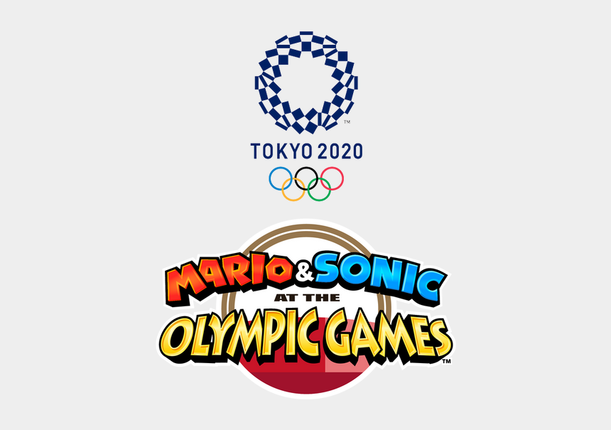 clip art bussines, Cartoons - Mario & Sonic At The Olympic Games Tokyo 2020 Logo