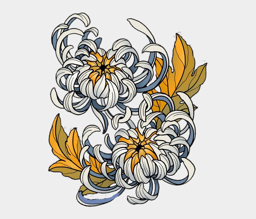 chrysanthemum clip art, Cartoons - Japanese Chrysanthemum Flower Vector