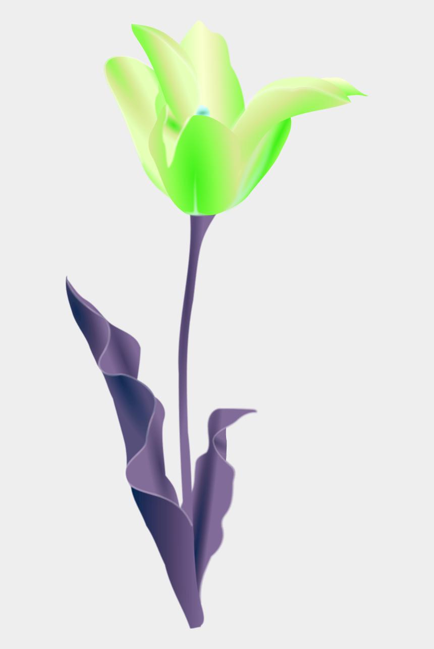 flower pot clipart, Cartoons - Simple Flower Outline - Tulip Clip Art