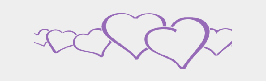 free wedding clipart, Cartoons - We Present To You A Wedding Clipart Purple - Small Hearts In Line