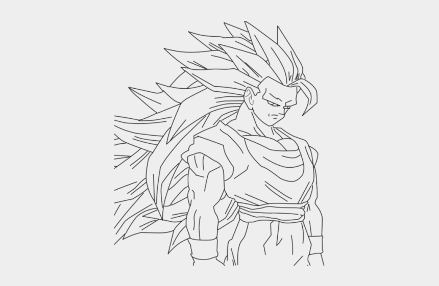 Goku Clipart Full Body Goku Super Saiyan 2 Drawing Full