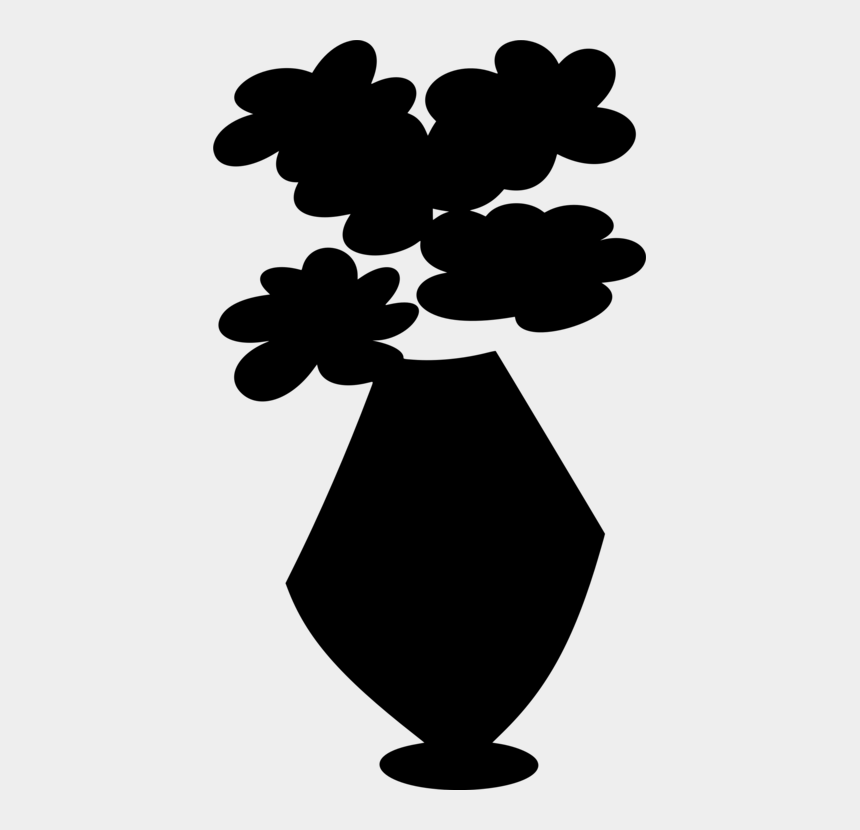 clover clipart, Cartoons - Clover Clipart Silhouette - Flowers In Vase Silhouette