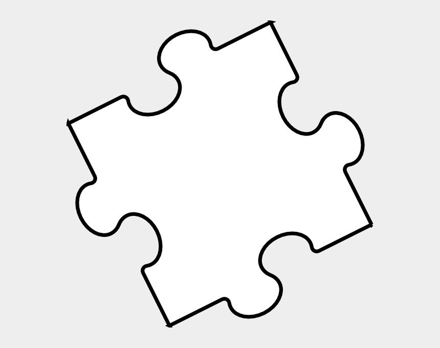 puzzle pieces clipart, Cartoons - Black White Puzzle Piece Clip Art At Clker - Puzzle Piece White Png