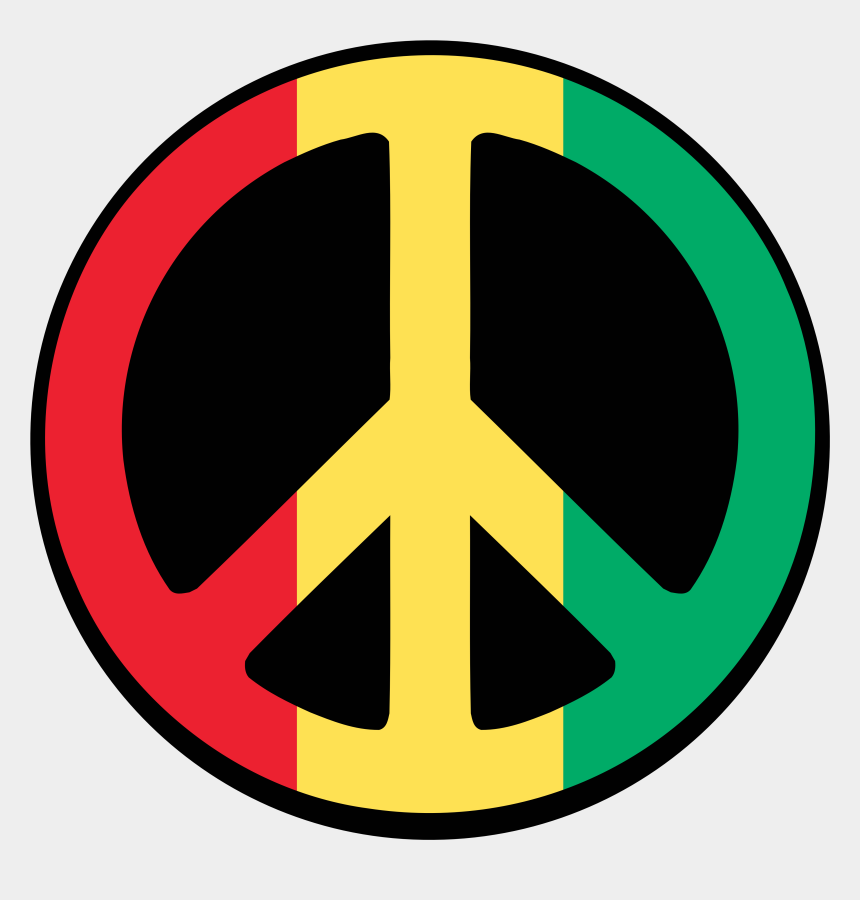 peace clipart, Cartoons - Symbol For Peace - Peace Sign Red Yellow Green