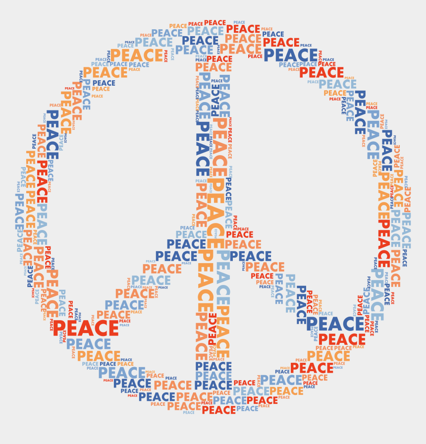 peace clipart, Cartoons - Peace Sign Word Cloud No Background - Word Cloud Peace Sign