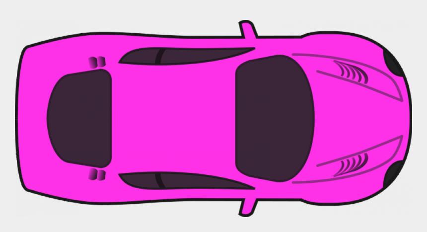 race car clipart, Cartoons - Pink Racing Car Vector Clip Art - Car Transparent Background Top View