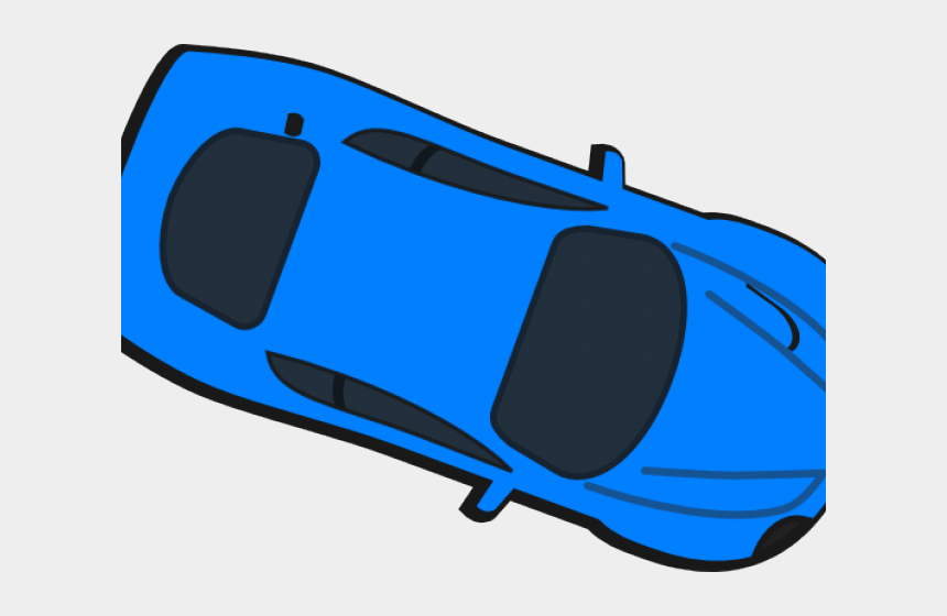 race car clipart, Cartoons - Race Car Clipart Top View - Red Car Birds Eye View