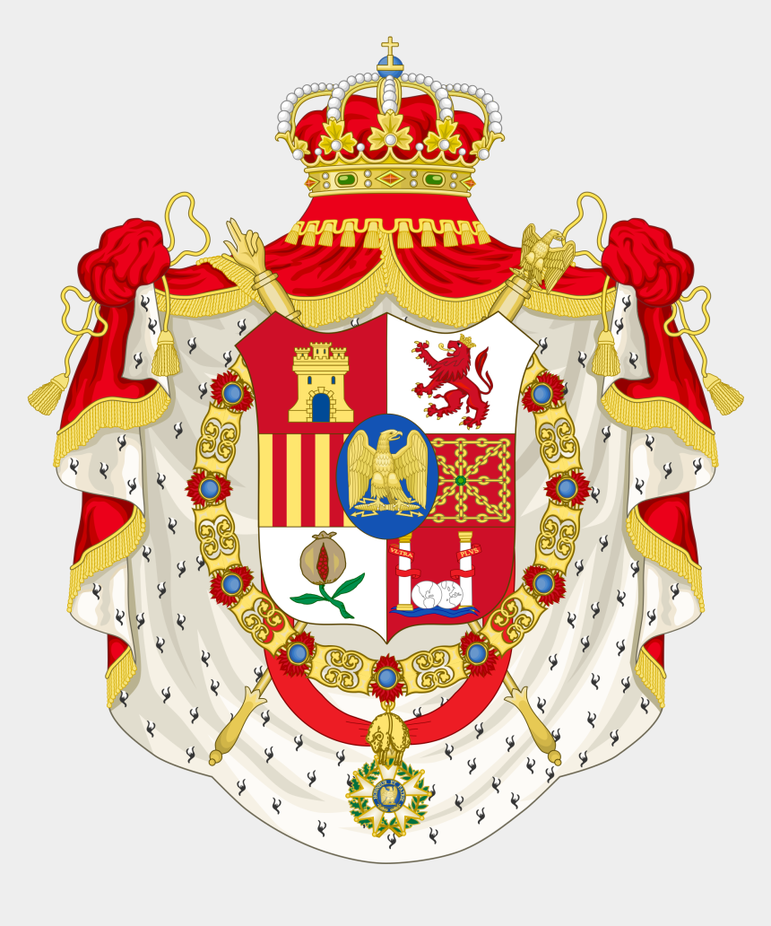 coat clipart, Cartoons - Grand Coat Of Arms Of Joseph Bonaparte As King Of Spain - King Of Spain Coat Of Arms
