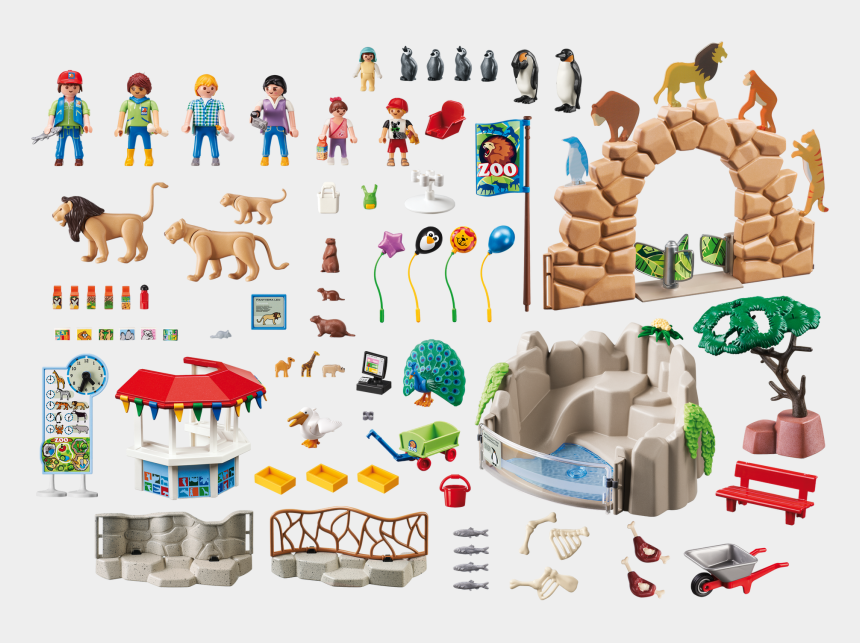 zoo clipart, Cartoons - Zoo Clipart Zoo Habitat - Playmobil Large City Zoo