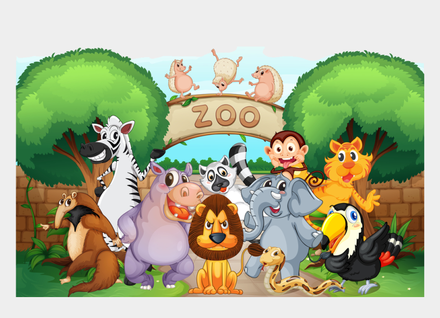zoo clipart, Cartoons - Zoo Clipart Png - Zoo Animals