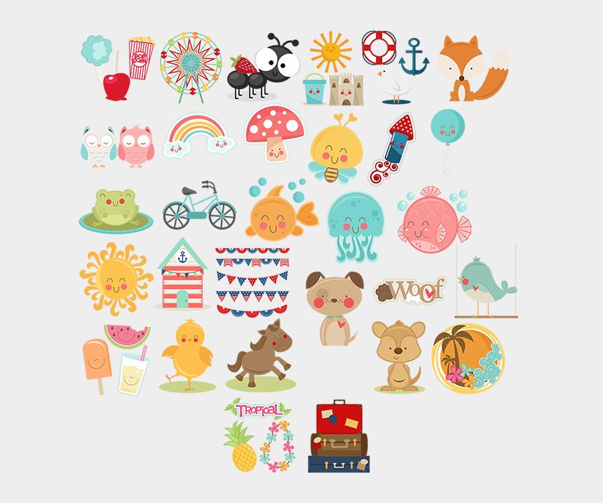 june clipart, Cartoons - Miss Kate Cuttables June 2014 Freebies Free Svg Files - Planilla De Stickers Para Imprimir