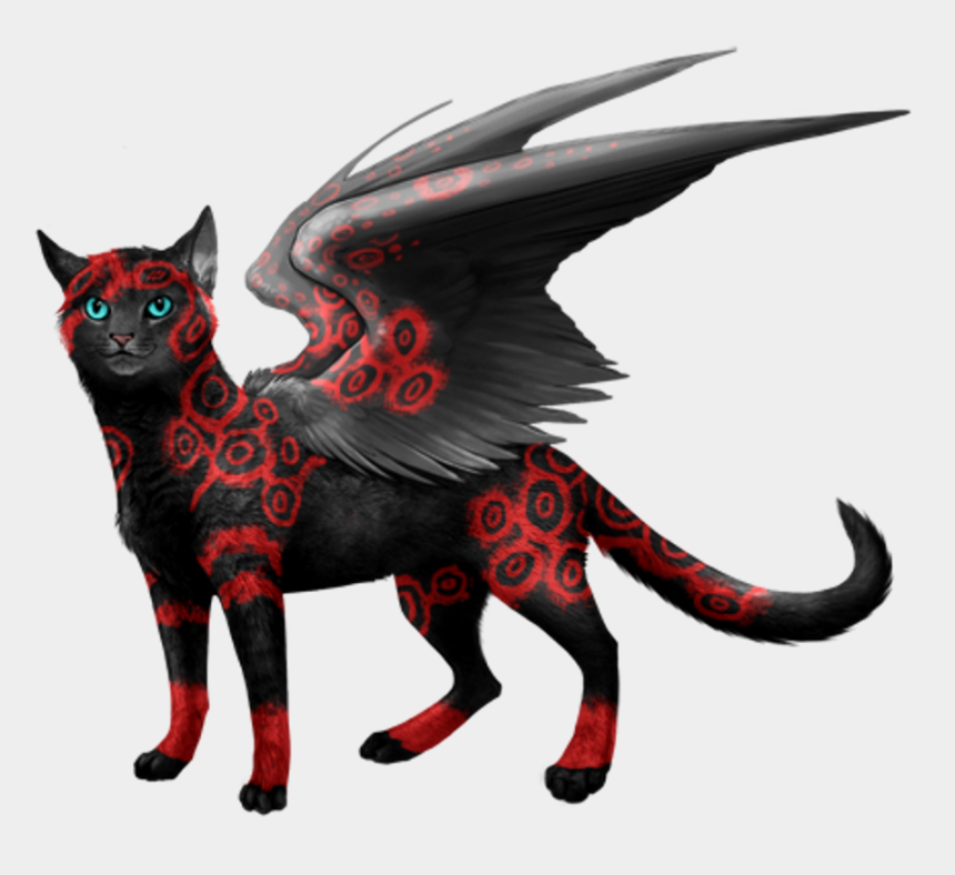 demon clip art, Cartoons - Different Types Of Cats With Names Clipart , Png Download - Demonic Cat With Wings