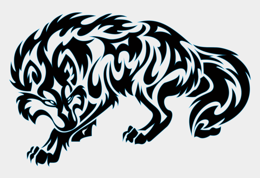 tattoo machine clip art, Cartoons - Gray Wolf Old School Sleeve Tattoo Tattoo Machine - Tribal Wolf Tattoo