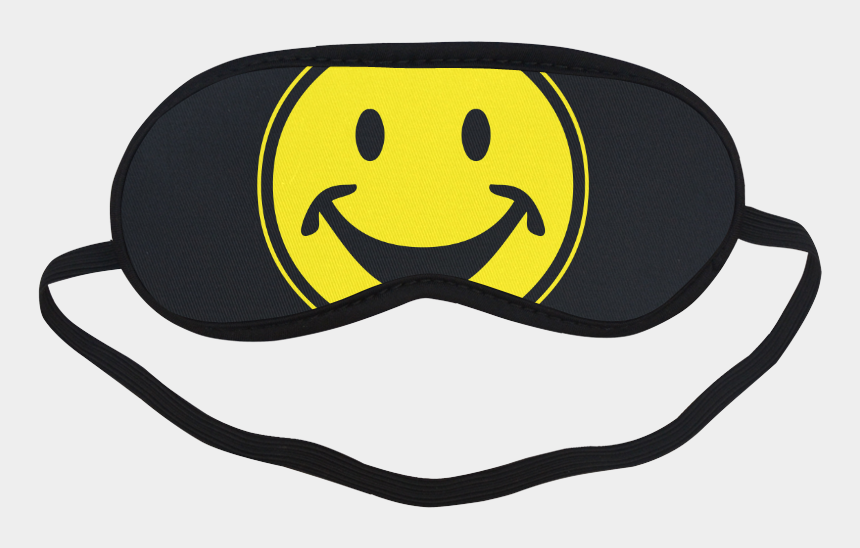happy people clip art, Cartoons - Funny Yellow Smiley For Happy People Sleeping Mask - Eye Mask With Googly Eyes