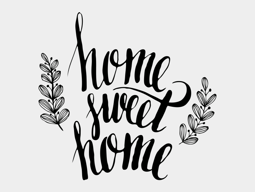 home sweet home clip art, Cartoons - Home Sweet Home, Decoratie Clipart , Png Download - Lettering Home Sweet Home