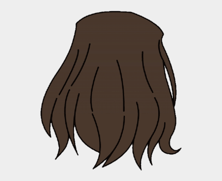 brown hair clip art, Cartoons - #hair #gachahair #brownhair #backhairgacha #gacha #gachalife - Gacha Life Hair Png