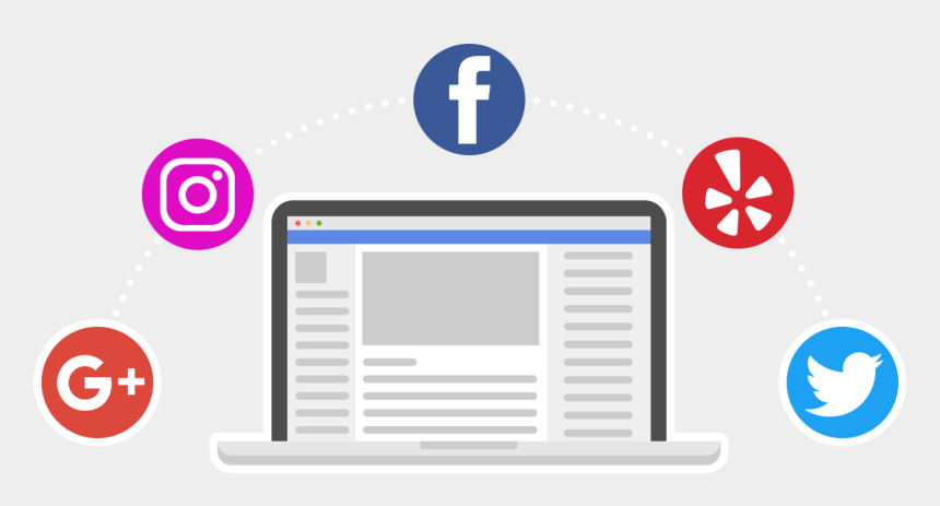 clip art explode, Cartoons - Media Explode Social Media Management - Facebook Instagram Yelp Icons