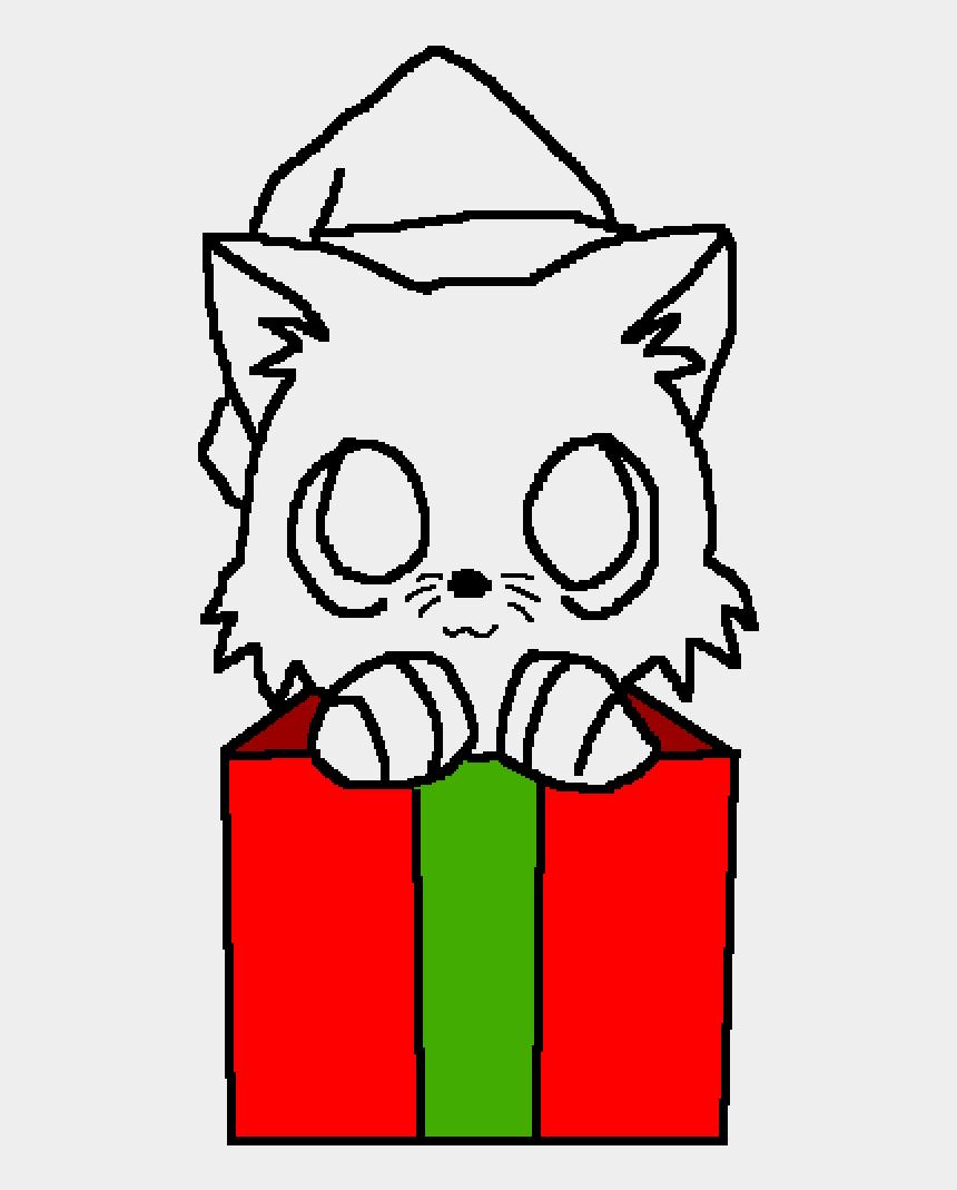 christmas cat clip art, Cartoons - Christmas Cat Base - Cute Christmas Kitten Drawing