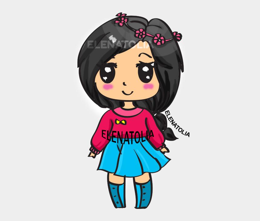 cute girl clip art, Cartoons - Step By Step How To Draw A Cute Girl