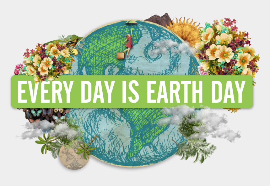 earth day clip art black and white, Cartoons - Every Day Is Earth Day