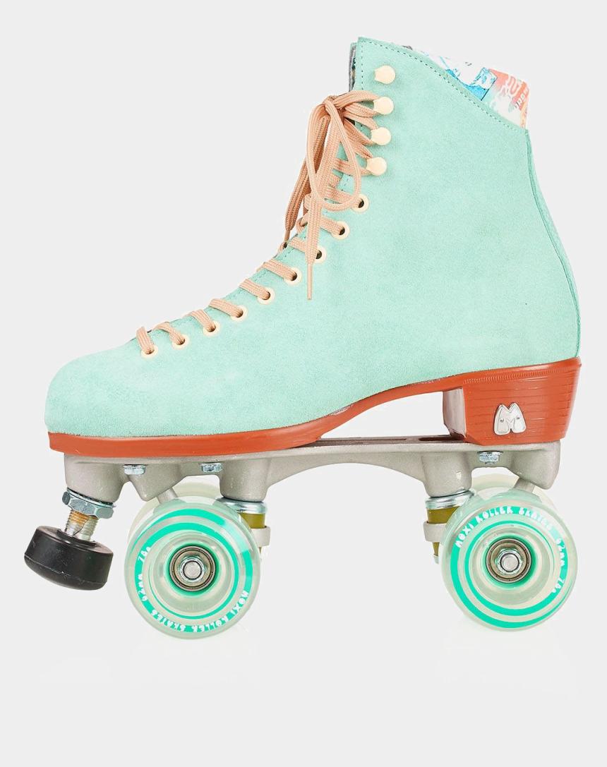 roller skate silhouette clip art, Cartoons - Artistic Roller Skating - Pastel Retro Roller Skates
