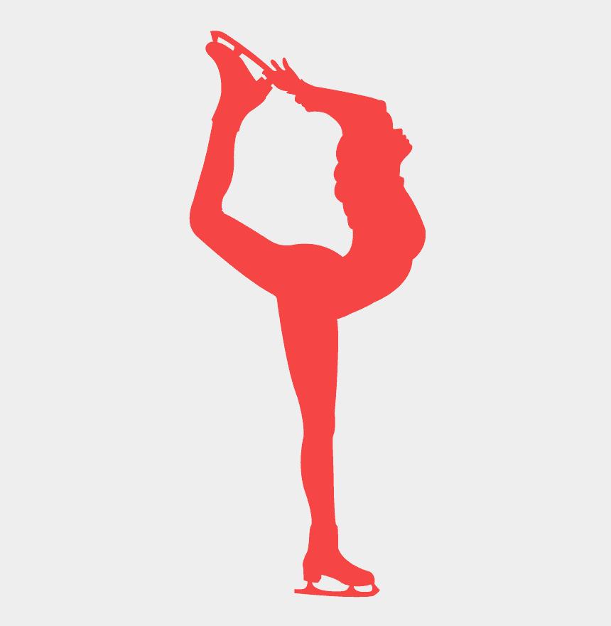 roller skate silhouette clip art, Cartoons - Figure Skating Needle Silhouette