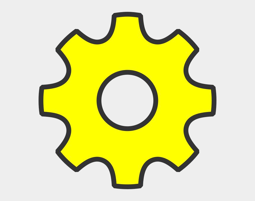 setting clip art, Cartoons - Yellow Settings Icon Png