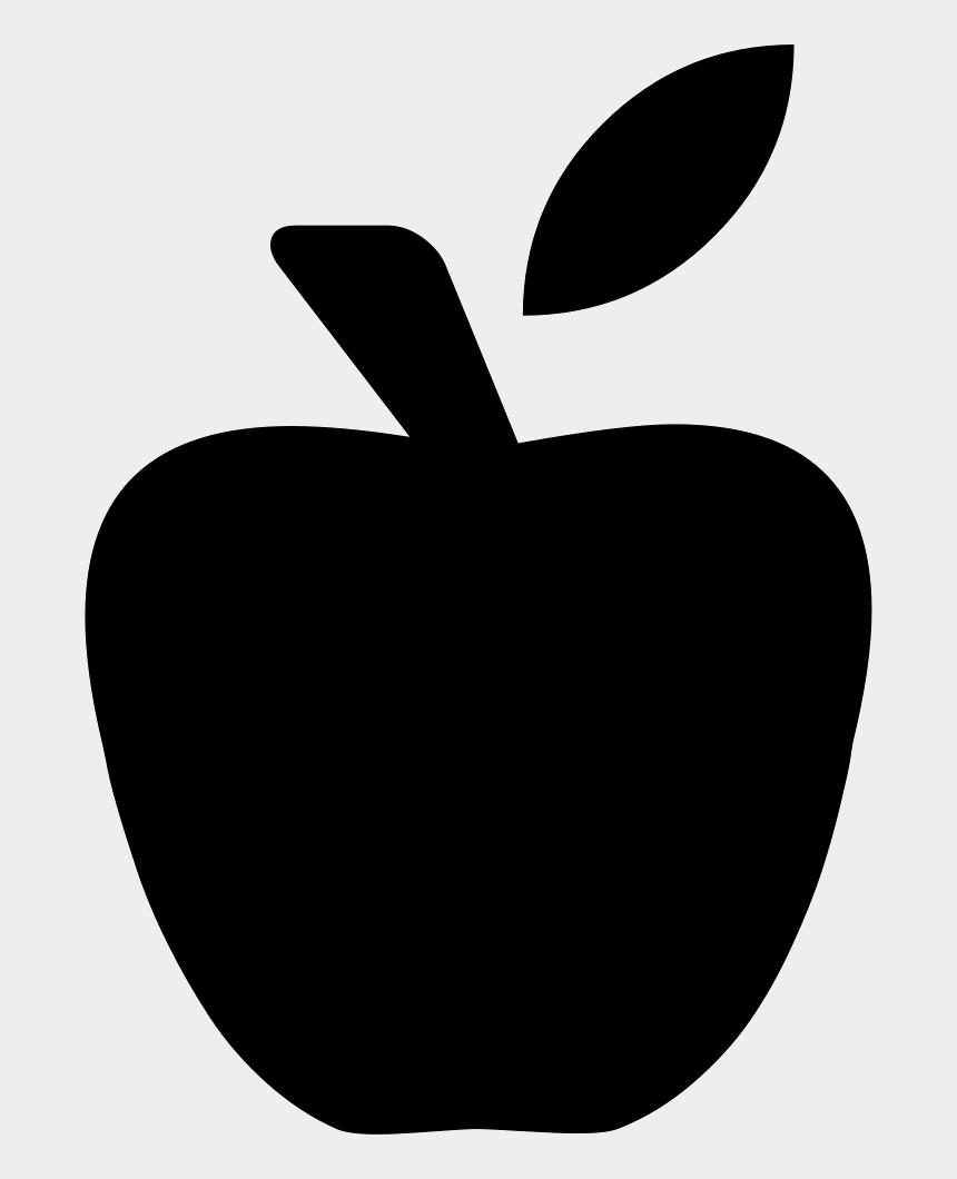 apple clipart outline, Cartoons - Apple Png Black Vector Clipart , Png Download - Apple Svg Free Download
