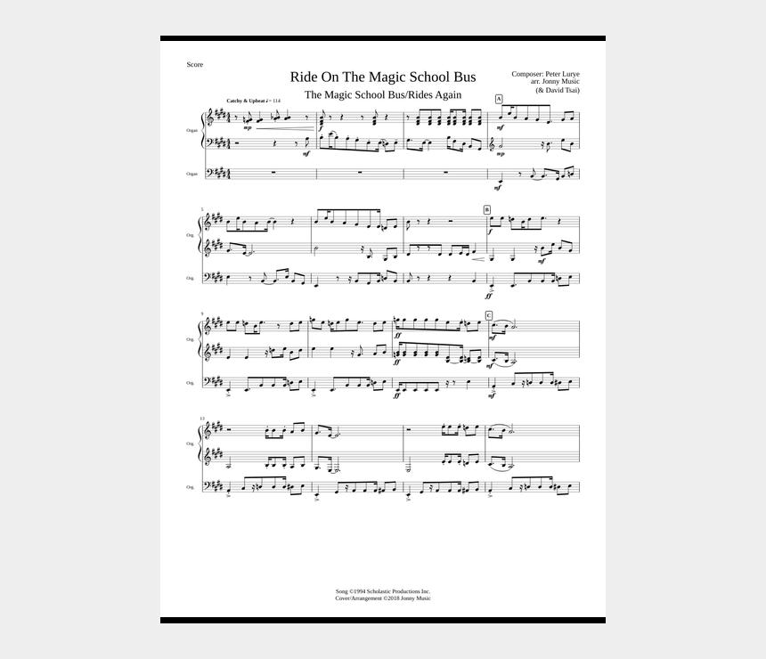 magic school bus clip art, Cartoons - Magic School Bus Theme Song Piano Sheet Music