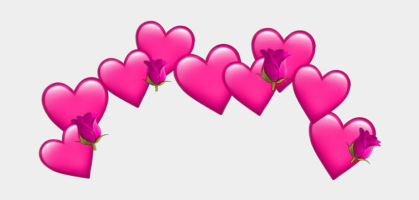 pink hearts clip art, Cartoons - #pink #hearts #hearts #pinkhearts #pinkheart #emoji - Red Heart Crown Png