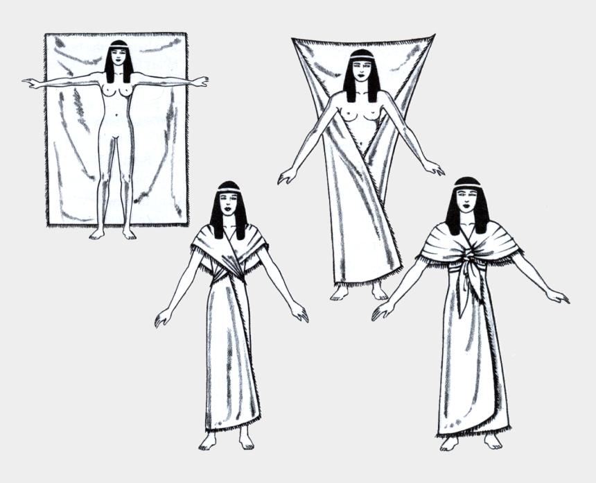 egyption clip art, Cartoons - Egyptian Sheath Dress - Ancient Egyptian Wrap Clothing