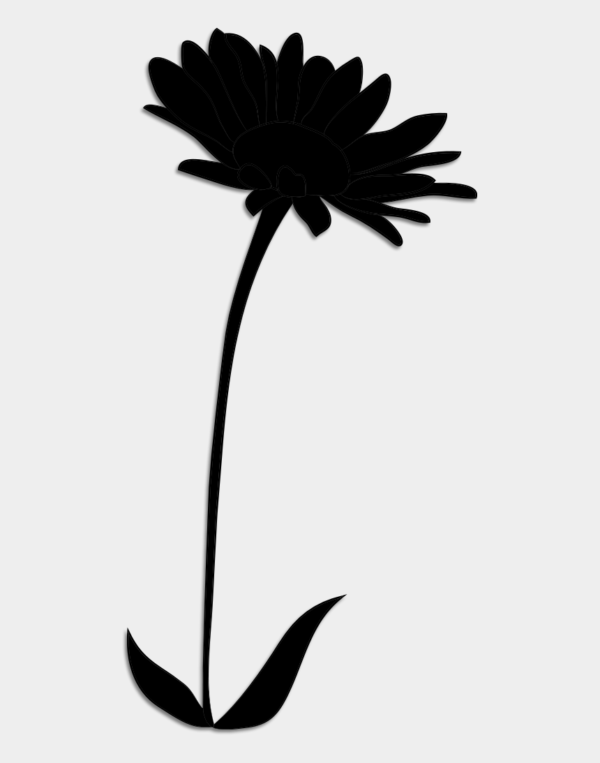 flower stem clip art, Cartoons - Clip Art Leaf Plant Stem Silhouette Line