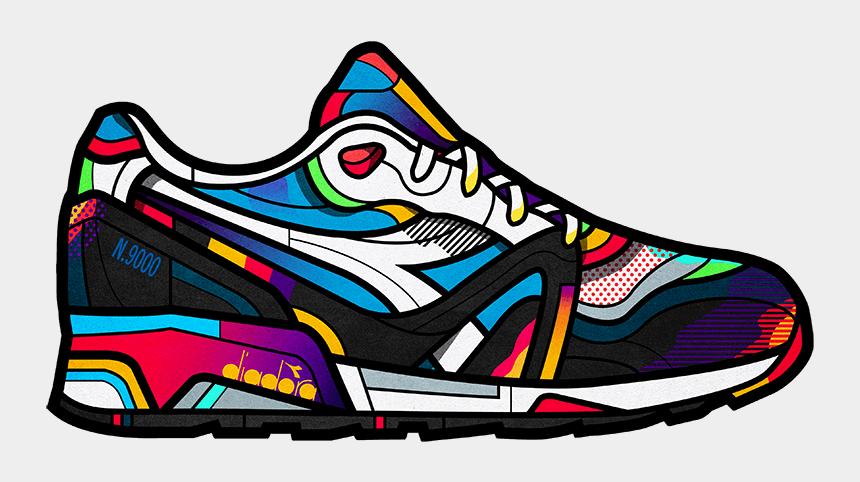 walking shoes clip art, Cartoons - Design Sneakers