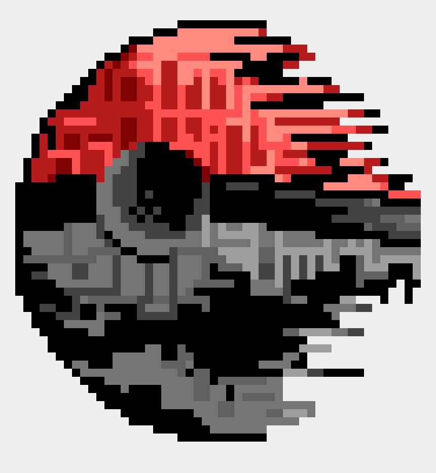 pokeball clip art, Cartoons - Pokeball Death Star Png - Pokeball Death Star