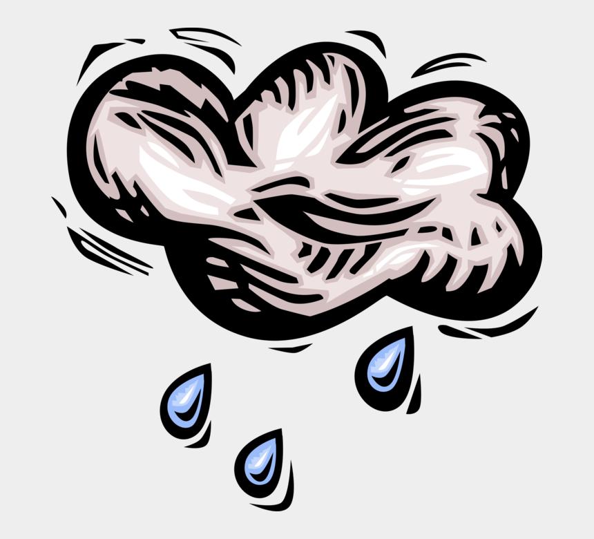 raincloud clip art, Cartoons - Vector Illustration Of Weather Forecast Rain Cloud - Illustration