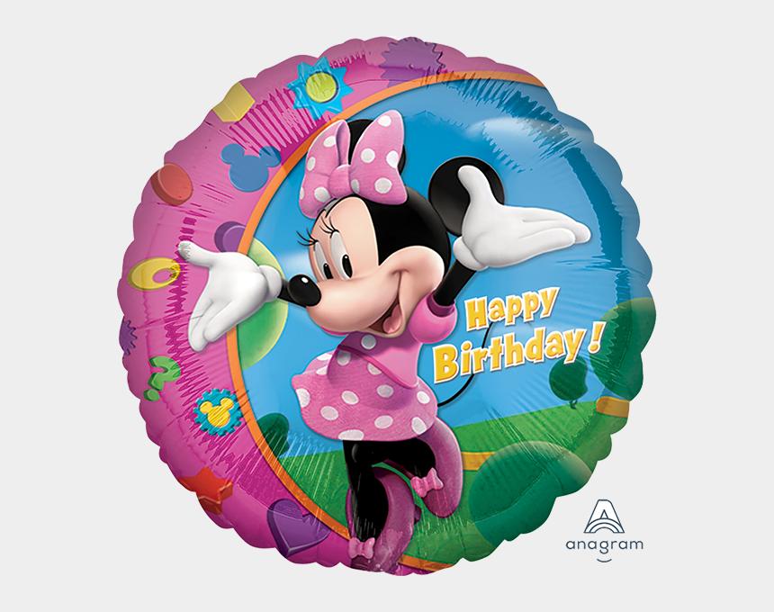 birthday balloon clip art, Cartoons - Minnie Mouse Happy Birthday Balloons