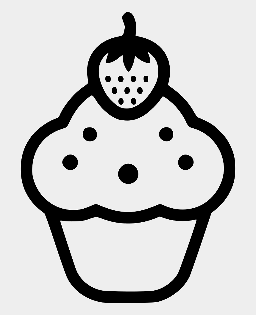 lemon clip art black and white, Cartoons - Cupcake Computer Icons Confectionery Vector Graphics - Cupcake Outline Cherry