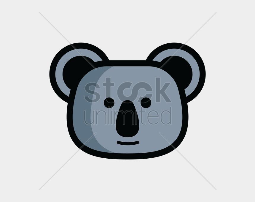 bear head clip art, Cartoons - Koala Bear Head Vector Image - Koala Vector Art