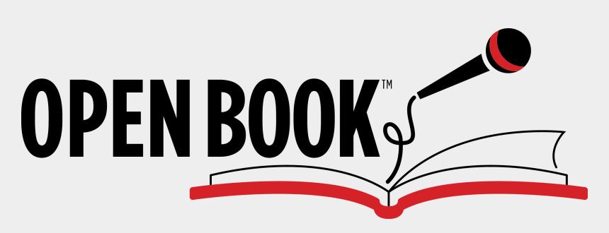 open book clip art black and white, Cartoons - Open Book Logo Pasadena Literacy Alliance