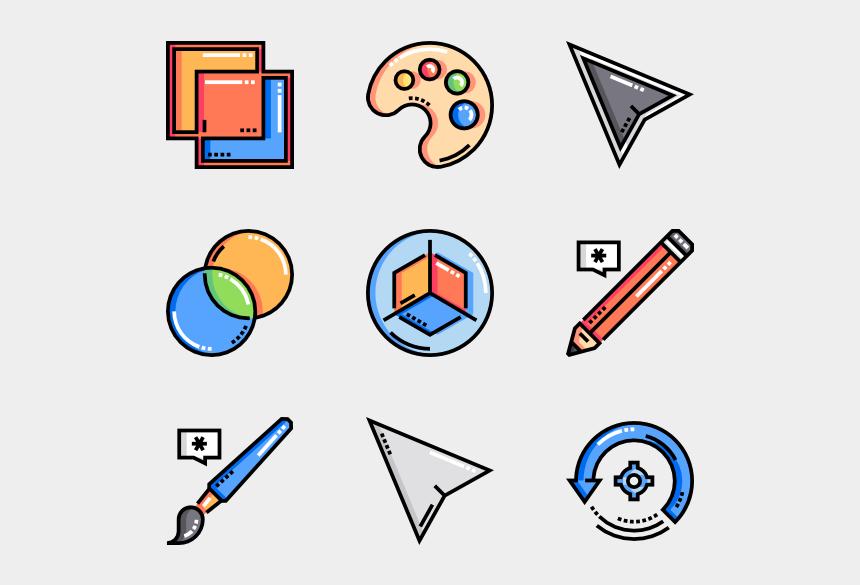 colored pencils clip art, Cartoons - Vector Editing Tools