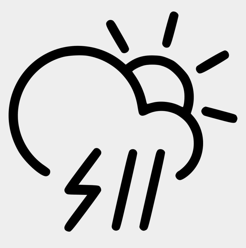 storm cloud clip art, Cartoons - Day Rain Storm Cloud Lightning Rain Sun - Clouds & Rain Clipart Black And White