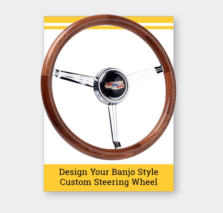 hot wheel clip art, Cartoons - Banjo Style Wood Grip Custom Steering Wheel - 4 Spoke Wood Design Steering Wheel