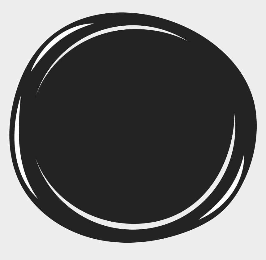 circle clip art black and white, Cartoons - Black & White - Portrait Of A Man
