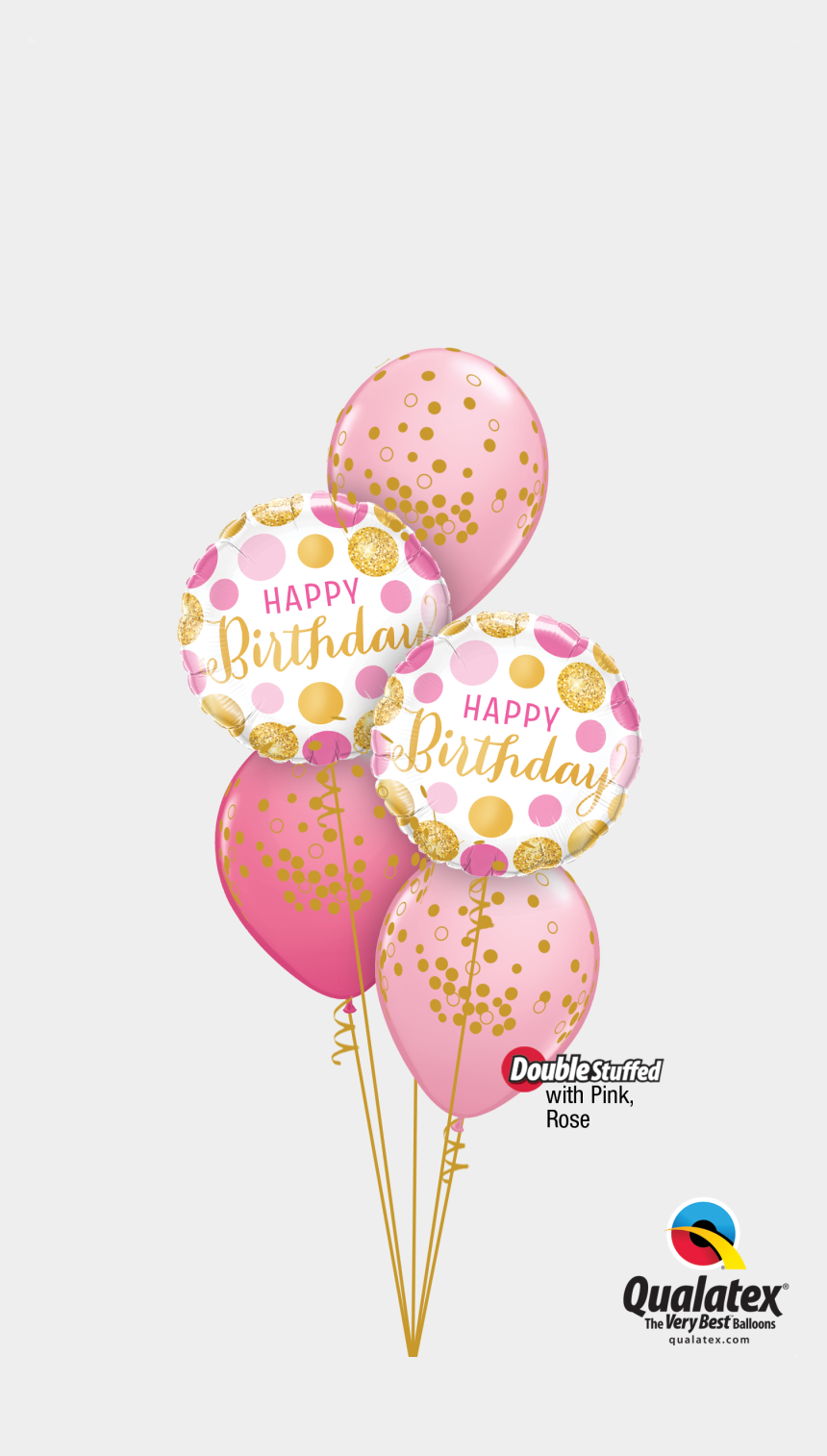 confetti clipart, Cartoons - Confetti Clipart Birthday Accessory - Balloons Gold And Pink Clipart