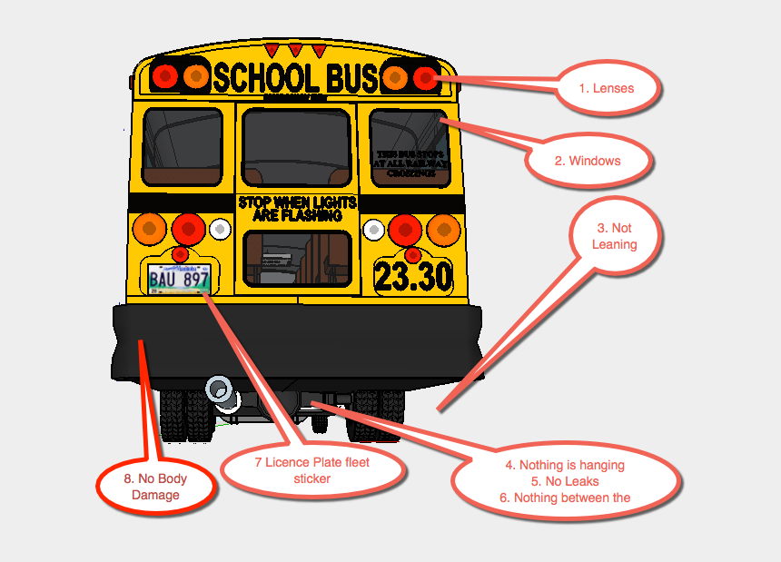 school bus clipart, Cartoons - Pretrip Graphic Stock Pretrip Graphic - Clearance Lights On A Bus