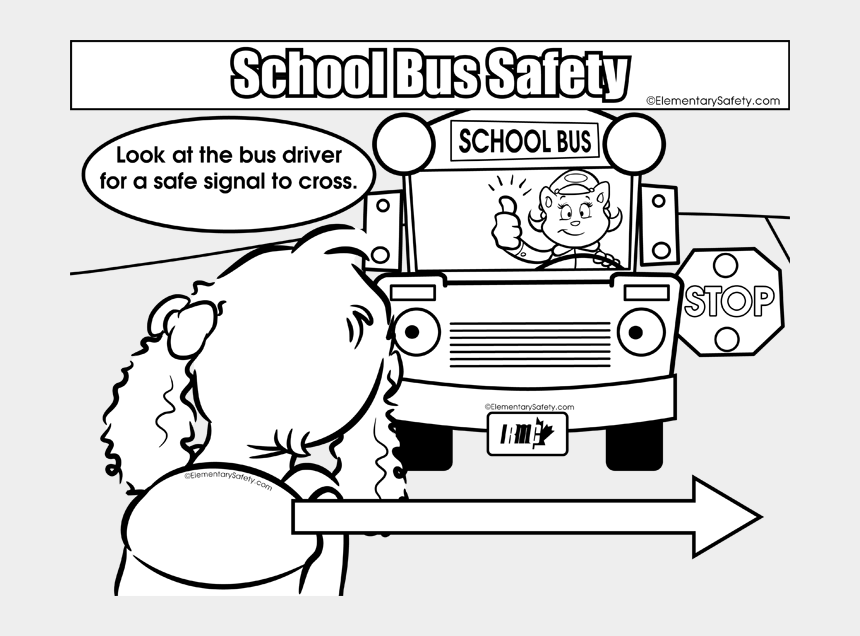 Bus Clipart Coloring Page - School Bus Safety Coloring Page ...