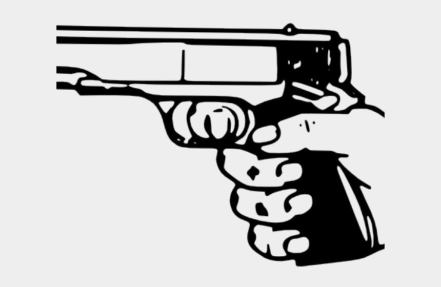 gun clipart, Cartoons - Gun Clipart Line Art - Shot Clipart Black And White