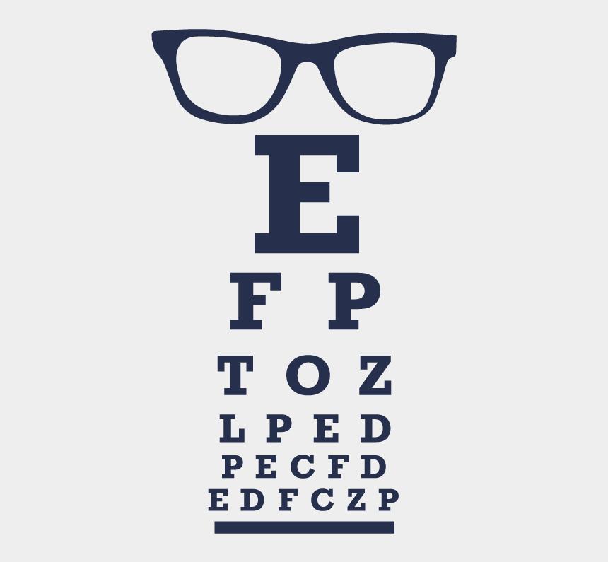 eyeglasses clipart, Cartoons - Low Vision Evaluation - Eye Test Chart Color